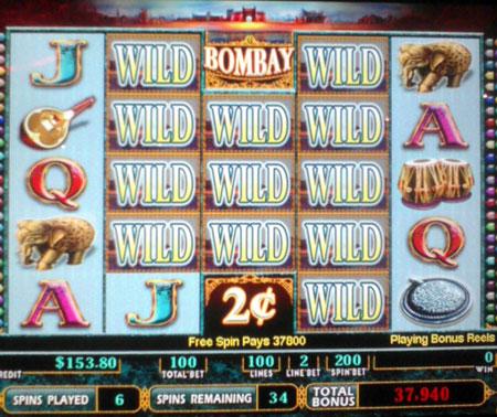 Bombay slot machine wild pic