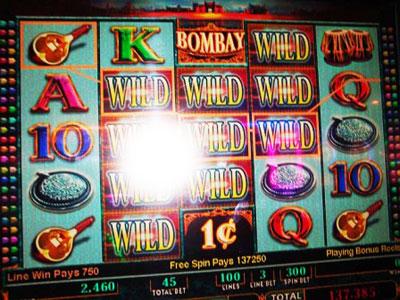 Bombay slot machine jackpot